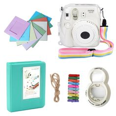 6amLifestyle Mini 8 Instant Camera Accessories for FujiFilm Instax Mini 8 Camera with Camera Case/ Self-portrait Mirror/ Photo Album/ Color Frame/ Strap *** Click on the image for additional details.