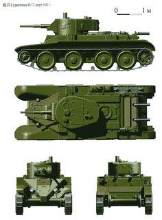 БТ-5 позднего выпуска с двигателем М-17