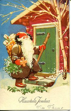 Martta Wendelin Christmas In July, Christmas Pictures, All Things Christmas, Vintage Christmas, Christmas Cards, Christmas Ornaments, Gnome, Vintage Santas, Vintage Cards