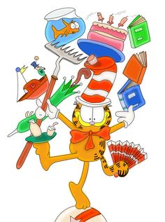 Garfield in the Hat ...can do the Cat in the Hat... by shardsofnarsil on deviantART