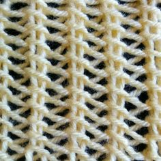 bamboo lace stitch Skill: easy Multiple of 3 sts + 2  Row 1: k1, *yo, sl1 wyib, k2tog tbl; rep from * to the last st, k1.  Repeat Row 1 until desired length.