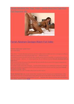 farrah-sex-tape-leaked-video-watch-free by davidsontanish via Slideshare