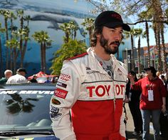 LONG BEACH, CALIF. -- Keanu Reeves after a practice run for the Pro/Celebrity Race during the Toyota grand Prix of Long Beach on April 17, 2009.  Photo by Jeff Gritchen/Long Beach Press-Telegram