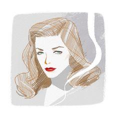 Lauren Bacall by Yoko Tanji.