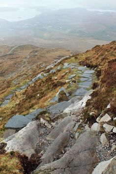 diamont hill walk, connemara national park, ireland