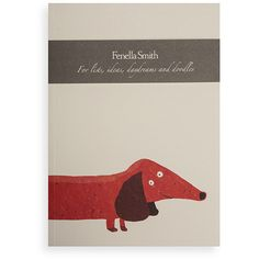 Fenella Smith Dachshund A5 Notebook ($13) ❤ liked on Polyvore featuring home, home decor, stationery and orange