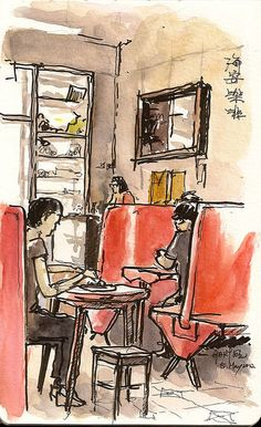 A Sixty-Year-Old Hong Kong Style Cafe 海安咖啡 by Gary Yeung HK, via Flickr