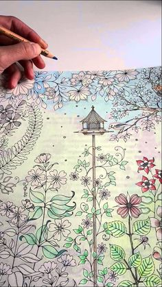 74 Great Secret Garden Coloring Book Pages Completed Inspiration ...