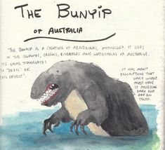 Monsters of Oceania: The Bunyip of Australia! Image Monster, Drop Bear, Big Pun, Cryptozoology, Strange History, Urban Legends, Mythological Creatures, Historical Pictures, Character Creation