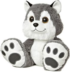 Howler Husky Taddle Toes Stuffed Animal by Aurora