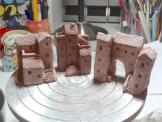 Miniature ceramic house sculpture WIP | by Cherry*Heart