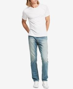 Calvin Klein Jeans Men's Stretch Slim-Straight fit Jeans - Black 30x30