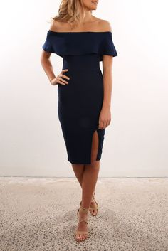 fc67fe5eeab confession dress navy - jean jail Bougie Outfits
