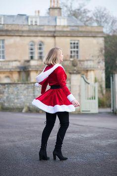 Oops, looks like the page is lost. Baby Christmas Costumes, Christmas Baby, Ugly Christmas Sweater, Merry Christmas, Homemade Christmas, Santa Girl Costume, Girl Costumes, Costumes For Women, Shabby Chic