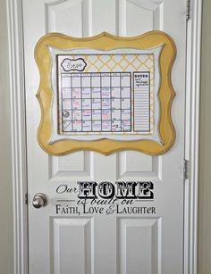 New Dry Erase Calendars with popular shaped frames to keep my house organized!