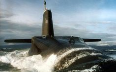Royal Navy Nuclear Submarine HMS Vanguard,lead boat of Trident class ballistic missile armed submarine fleet. Russian Submarine, Utility Boat, Navy Wallpaper, Nuclear Submarine, Cabin Cruiser, Navy Military, Navy Ships, Small Boats, Boat Plans