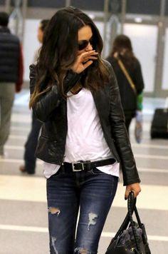 the basics jeans white t shirt and black leather glasses sunglasses