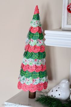 How To Make Pretty Paper Christmas Trees Out Of Punched Circles A Fun