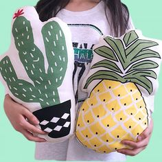 CACTUS & PINEAPPLE PILLOW sold by foreveronline. Shop more products from foreveronline on Storenvy, the home of independent small businesses all over the world.