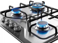 Cooktop 4 Bocas Electrolux a Gás - GT60X Tripla Chama e Botões Removíveis Inox