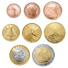 Alle euromunten - Euromunten en biljetten Piece Euro, Coins, Home, Pictures, Countries, Money, Ideas