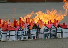 The model of London ablaze
