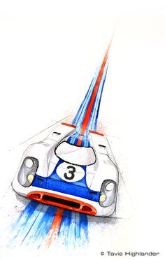 by tavis highlander Porsche, Audi, Easy Scenery Drawing, Car Painting, Watercolor Painting, Mercedes Benz, Ferrari, Toyota, Honda