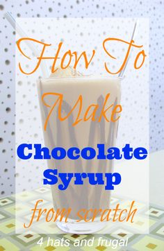 Have you ever wondered how to own chocolate syrup from scratch? Here's one of the easiest chocolate syrup recipes I've ever used for our family.