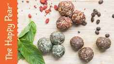 Here's our super energy ball recipe made 3 way's! They take just 10 minutes to make and are great for children and adults alike! They are a great quick and filling snack, great one for lunch boxes! Happy Pear Recipes, Whole Food Recipes, Family Recipes, Raw Energy, Energy Balls, Protein Power, Protein Ball, Vegan Snacks, Healthy Snacks