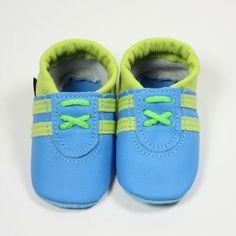 Krabbelschuhe Sneaker in lemon-türkis