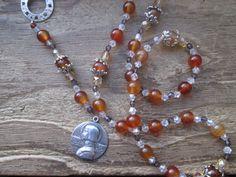 St. Joan of Arc, joan chaplet, st. joan chaplet, saint chaplet, saint prayer beads, joan prayer beads, st. joan rosary by MagickAlive on Etsy