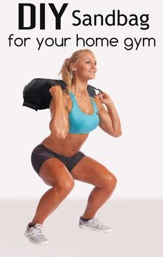 The sandbag is a must have equipment for your home gym arsenal. While, there are… - GYM workout Diy Sandbags, Gym Workouts, At Home Workouts, Diy Home Gym, Home Workout Equipment, Fitness Equipment, Homemade Gym Equipment, Diy Sac, Workout Machines