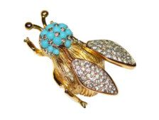 Rhinestone in Fine Jewelry > Brooches - Etsy Jewelry - Page 7
