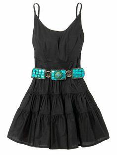 Simple black dress...western belt = <3