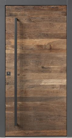 Haustür-Unikate aus gebrauchtem (Fass-)Holz und Naturstein One-of-a-kind front door made of used (barrel) wood and natural stone Door Design Interior, Main Door Design, Front Door Design, Gate Design, Modern Door Design, Exterior Design, House Entrance, Entrance Doors, Modern Entrance Door