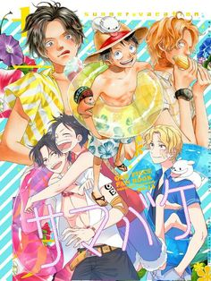 Luffy, Ace, Sobo, ASL, One Piece