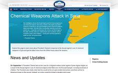 2013 - 5 de Septiembre - Gobierno de EE.UU. publicó una web para justificar ataque contra Siria - La Casa Blanca publicó un sitio de internet dedicado exclusivamente a explicar las razones por las cuales el gobierno de Estados Unidos está buscando la aprobación suficiente a nivel nacional e internacional para llevar a cabo una intervención militar en Siria.