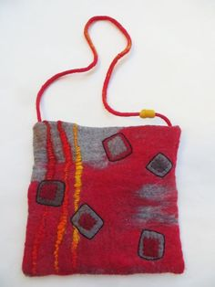 Red purse by janeville on Etsy
