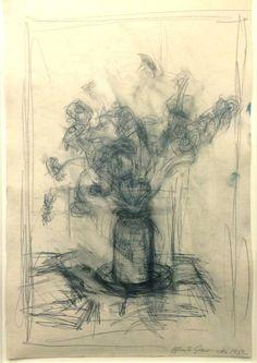 Alberto Giacometti (1901-1966) was een Zwitserse beeldhouwer en schilder.Vanaf 1922 woonde en werkte hij in Parijs, in de wijk Montparnasse. Hij ontdekte in die periode zowel de Afrikaanse kunst, in het Musée de l'Homme, als het surrealisme. Door al deze invloeden besloot hij af te zien van beeldhouwen naar model en de werkelijkheid los te laten maar toen hij huwde in 1949, brak zijn meest productieve periode aan met zijn vrouw als muze en voornaamste model.