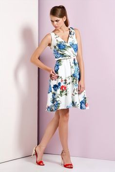 Ruj by SLN  - Mavi Elbise 14526