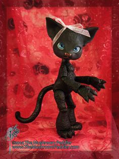 Scratch the Cat Limited Edition Midnight Black Resin Ball Joint Doll by TheMushroomPeddler, $325.00