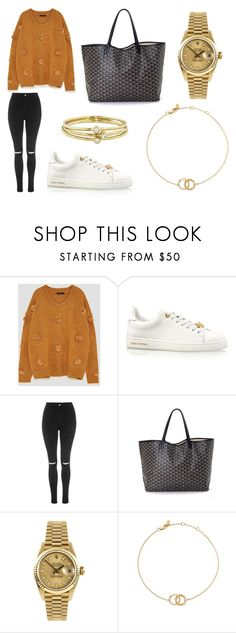 """Running Errands"" by laura2703 ❤ liked on Polyvore featuring Louis Vuitton, Topshop, Goyard, Rolex, Bloomingdale's and Jennifer Meyer Jewelry"