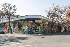 Mural en Calles Rafael Sotomayor con Santo Domingo , @Barrio_Yungay