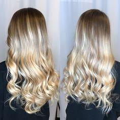 Ombré Blonde hair Color melt Redken Olaplex Balayage