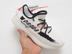 9f06a28fbe7fa Custom Off-White x Yeezy Boost 350 V2 White Black Adidas Nmd