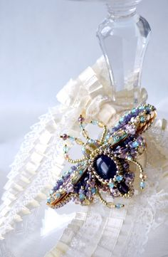 Bug brooch READY to ship Nature jewelry by BeadedNatureJewelry, €120.00
