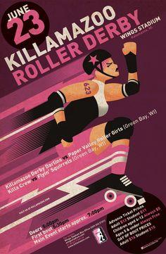 roller derby graphic design poster art