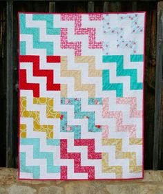 Stunning Strip Quilt Patterns - cute and different way to do a chevron stripe