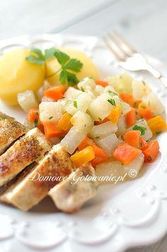 Kalarepa z marchewką oprószana