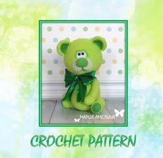Lime  the teddy bear  Amigurumi Crochet Pattern by Maria